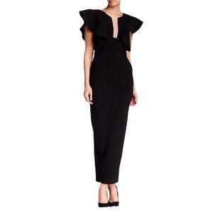 Few Moda Geisha Black Full Length Dress